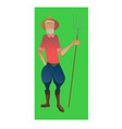 digital old farmer with beard vector image vector image