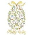 easter egg on white background vector image