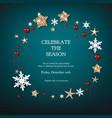 fairy festive wreath vector image vector image