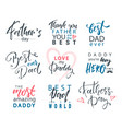 fathers day lettering calligraphic emblems badges vector image vector image
