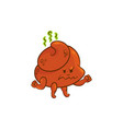 flat poop angry vector image vector image