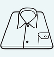 Folded shirt vector image vector image