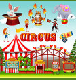 funfair object and background vector image vector image