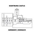 germany eisenach wartburg castle line ico vector image