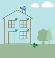 green ecology house vector image vector image