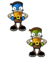 Halloween Monster Hands On Hips vector image