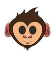 happy cute expressive monkey cartoon icon image vector image vector image