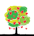 heart tree vector image vector image