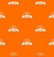 home control pattern orange vector image vector image