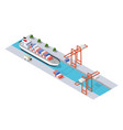 isometric city industrial dock vector image vector image