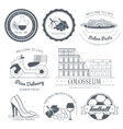 Italy country set label Template of emblem vector image
