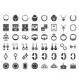 jewelry and diamond related icon glyph style vector image