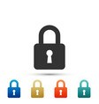 lock icon isolated on white background vector image vector image