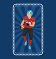 man running with ball player american football vector image vector image