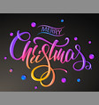 merry christmas greetings card colorful vector image vector image