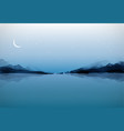 night landscape with islands in water traditional vector image vector image