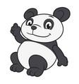 panda waving hand 2 vector image vector image