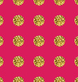 Pattern polka dot gold on pink background vector image