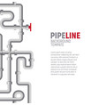 pipelines poster concept pipes pattern boiler vector image