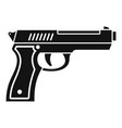 police pistol icon simple style vector image vector image