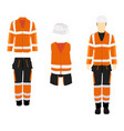 professional protective clothes and safety helmet vector image