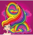 rainbow girl vector image vector image