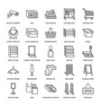 retail store supplies flat line icons trade shop vector image vector image