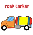 Road tanker transportation collection stock vector image vector image