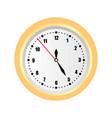 round wall clock vector image