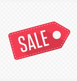 sale tag label vector image vector image