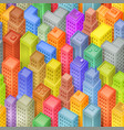 seamless cartoon isometric city background vector image