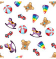 seamless different toys pattern vector image