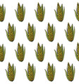 seamless hand-drawn bright corn pattern vector image