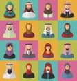 Set Arabic Men and Women vector image