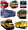 seven buses vector image vector image