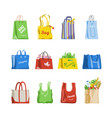 shopping bag shop paper-bag and baggy vector image
