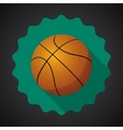 Sport Ball Basketball Flat icon background vector image