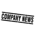 square grunge black company news stamp vector image vector image