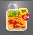 square wobbler design template autumn sale event vector image vector image