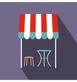 Street french cafe icon flat style vector image vector image