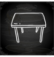 table drawing on chalk board vector image vector image