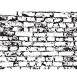 texture of old brickwork vector image vector image