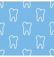 Tooth seamless pattern vector image vector image