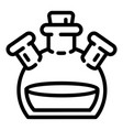 triple flask icon outline style vector image vector image