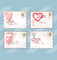 valentines day postcard card design vector image vector image