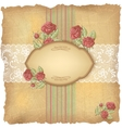 Vintage roses lace background vector image vector image