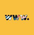 www dot concept word art vector image