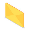 yellow mail icon set isometric style vector image
