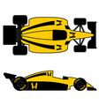Yellow racing car vector image vector image