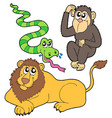 zoo animals collection b2 vector image